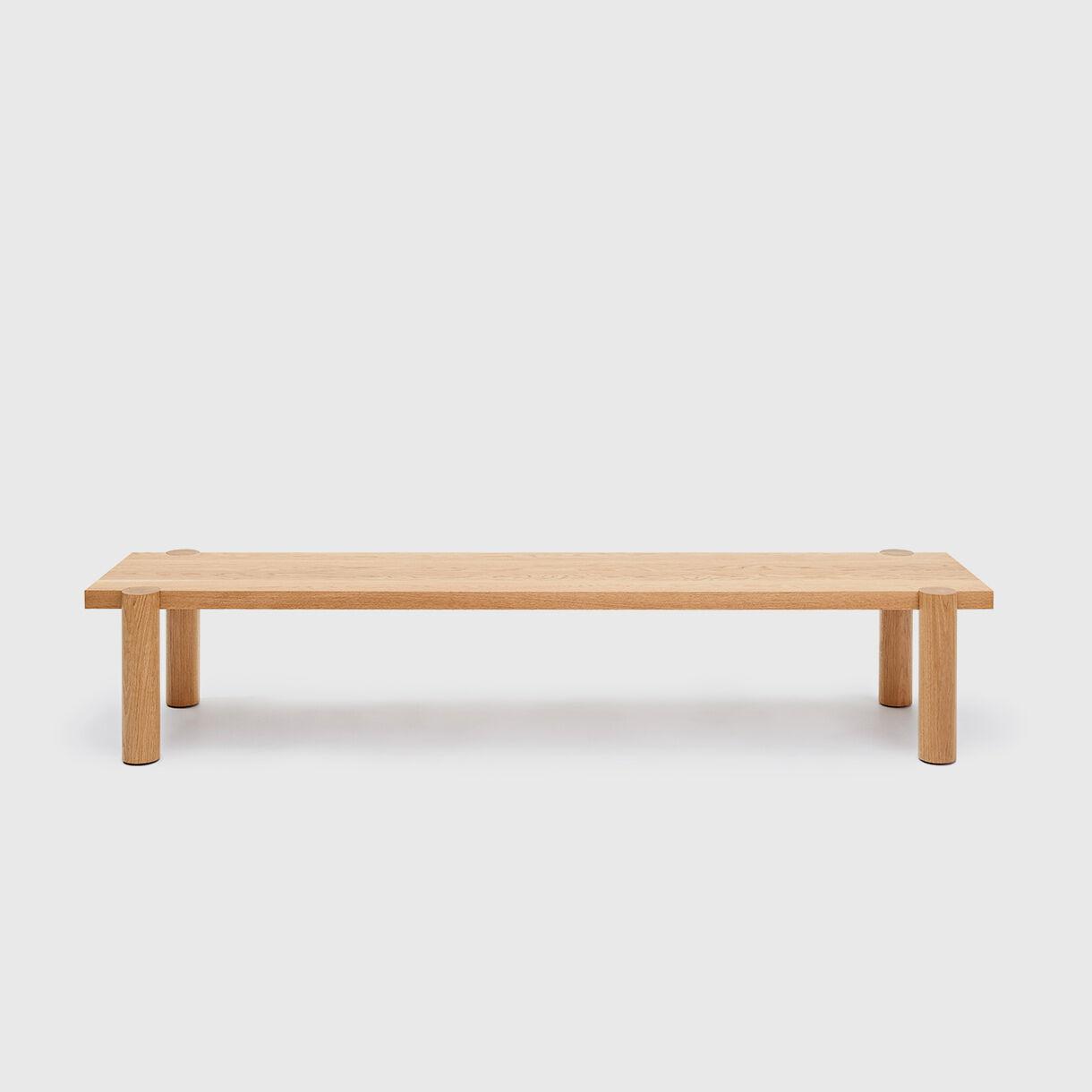 Breadstick Gallery Bench, American Oak