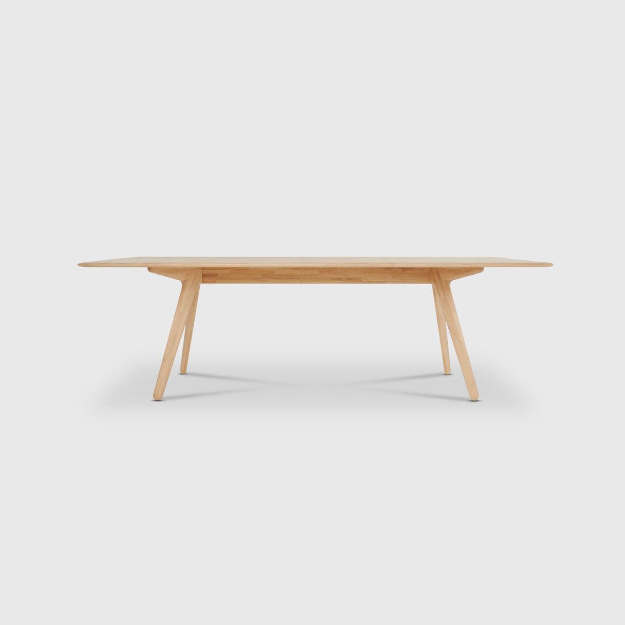 Slab Dining Table, Natural Oak