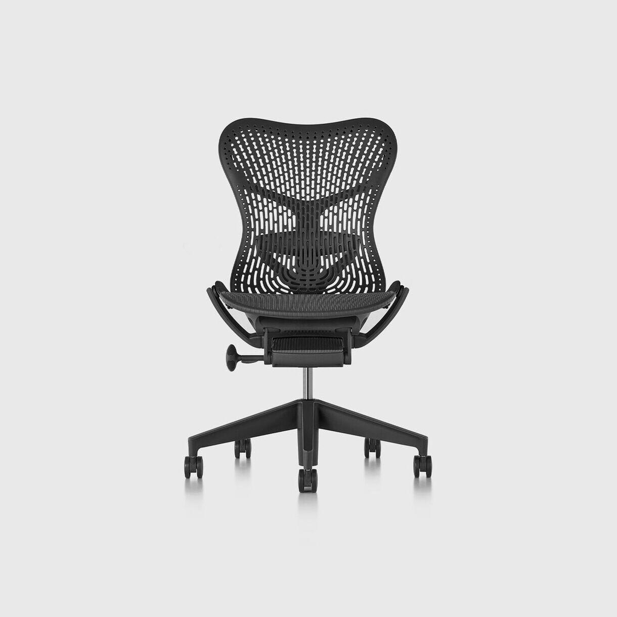 Mirra 2 Work Chair - TriFlex Graphite, Graphite Base & Frame - No Arms
