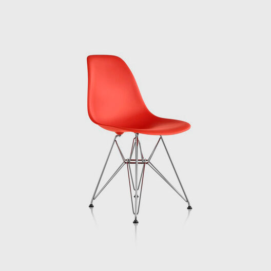 Eames® Moulded Plastic Side Chair, Wire Base