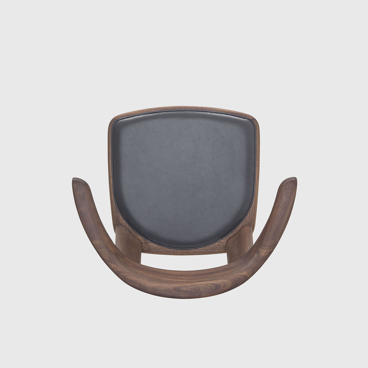 Brutus Armchair, Walnut & Black Leather
