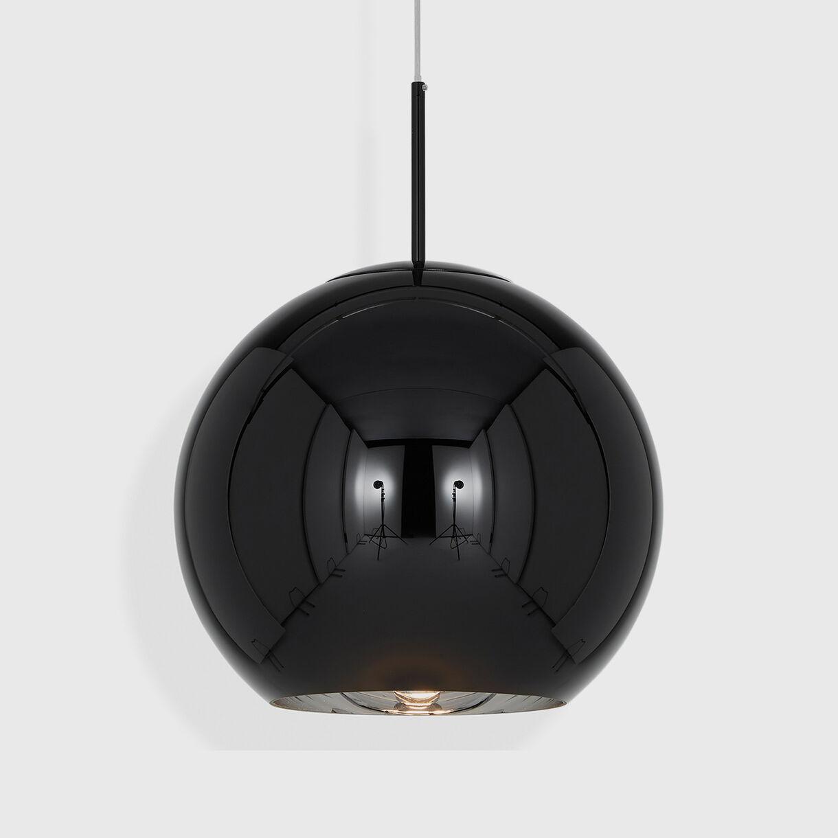 Copper Pendant Lamp 500mm, Black