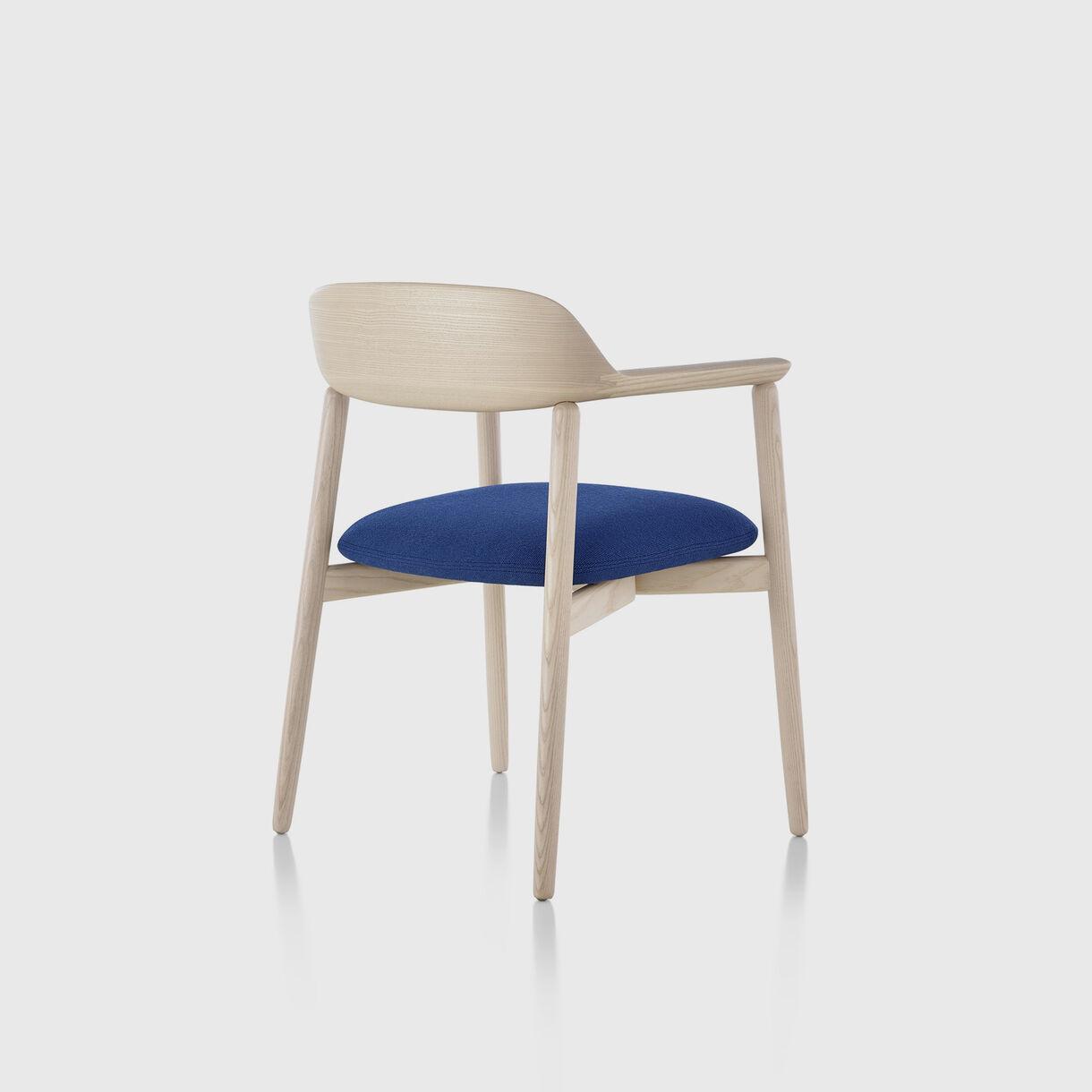 Crosshatch Side Chair, White Ash