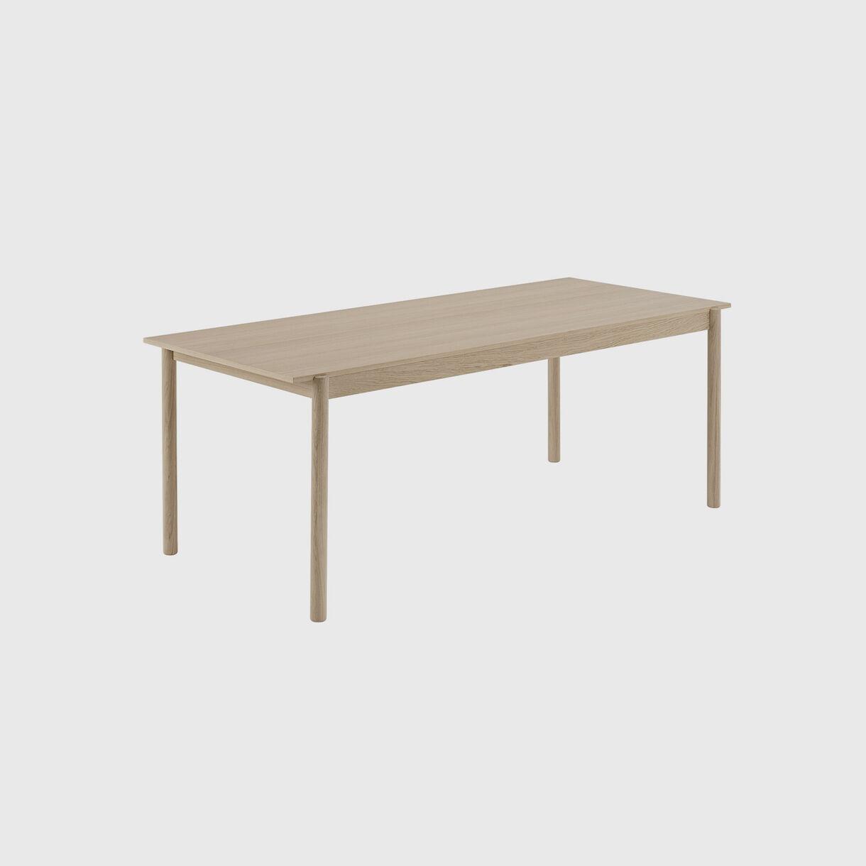 Linear Wood Table, Medium