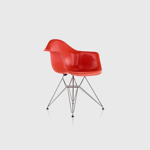 Eames® Moulded Fibreglass Armchair, Wire Base