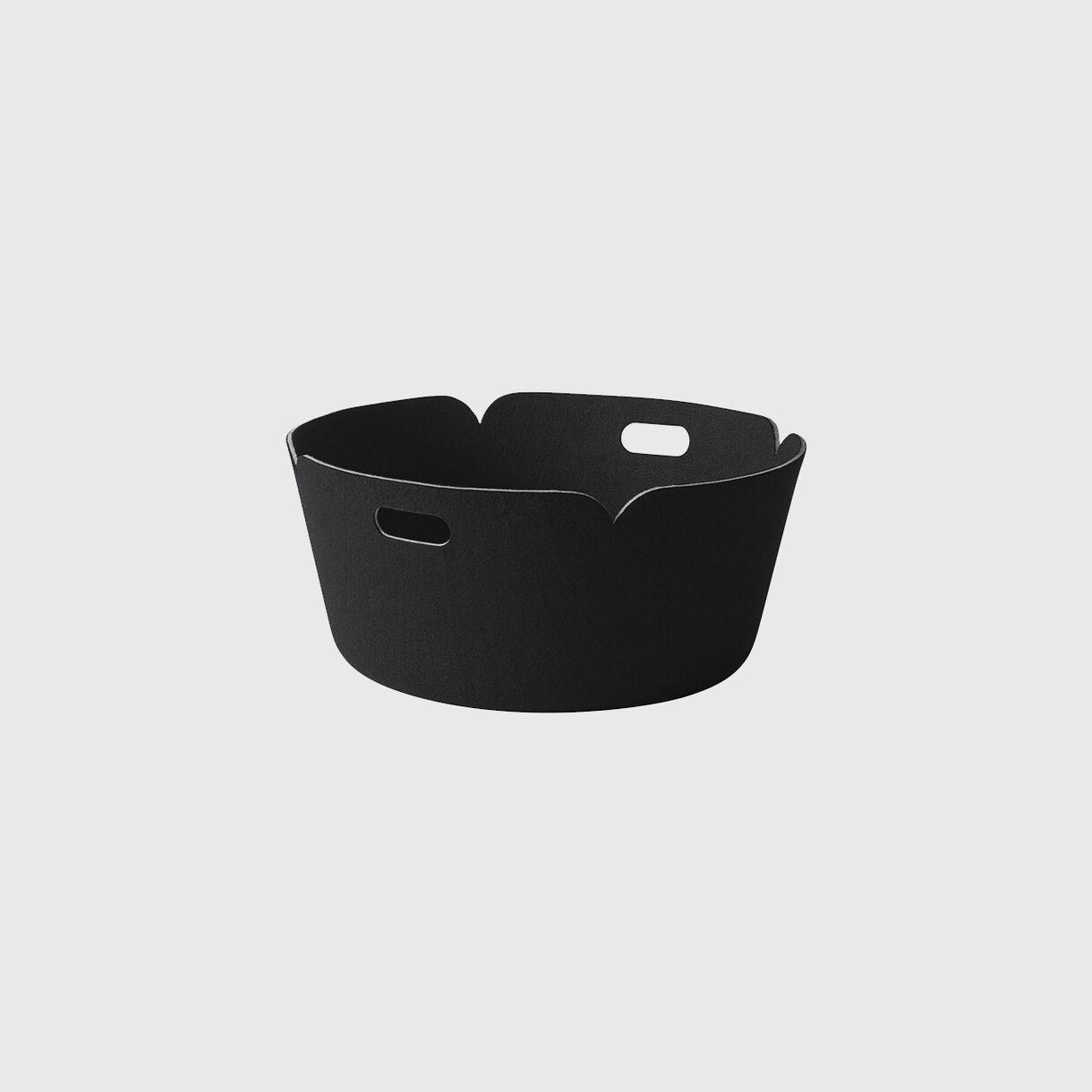 Restore Round Basket, Black