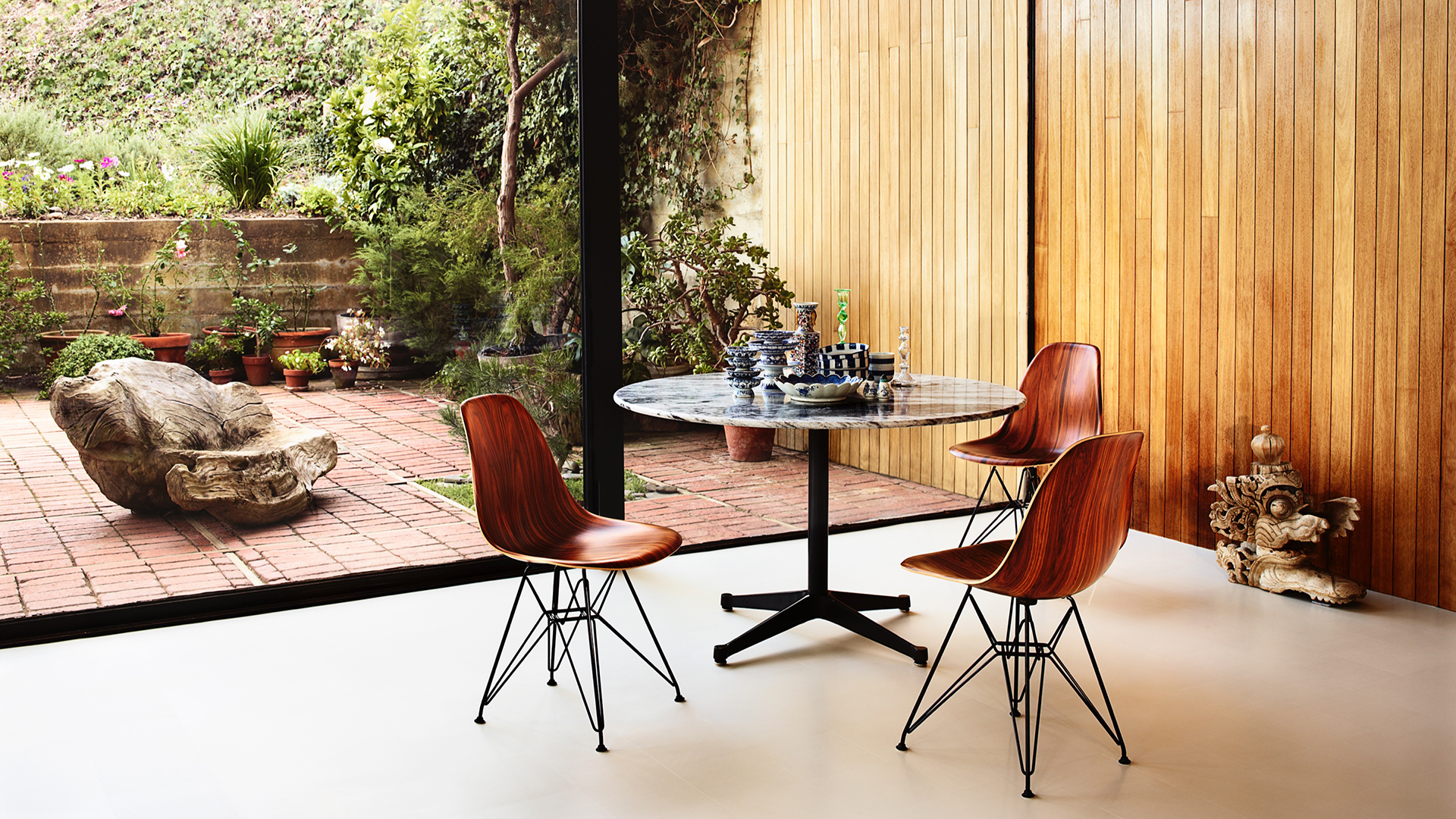 Eames Moulded Wood Side Chairs, Lifestyle