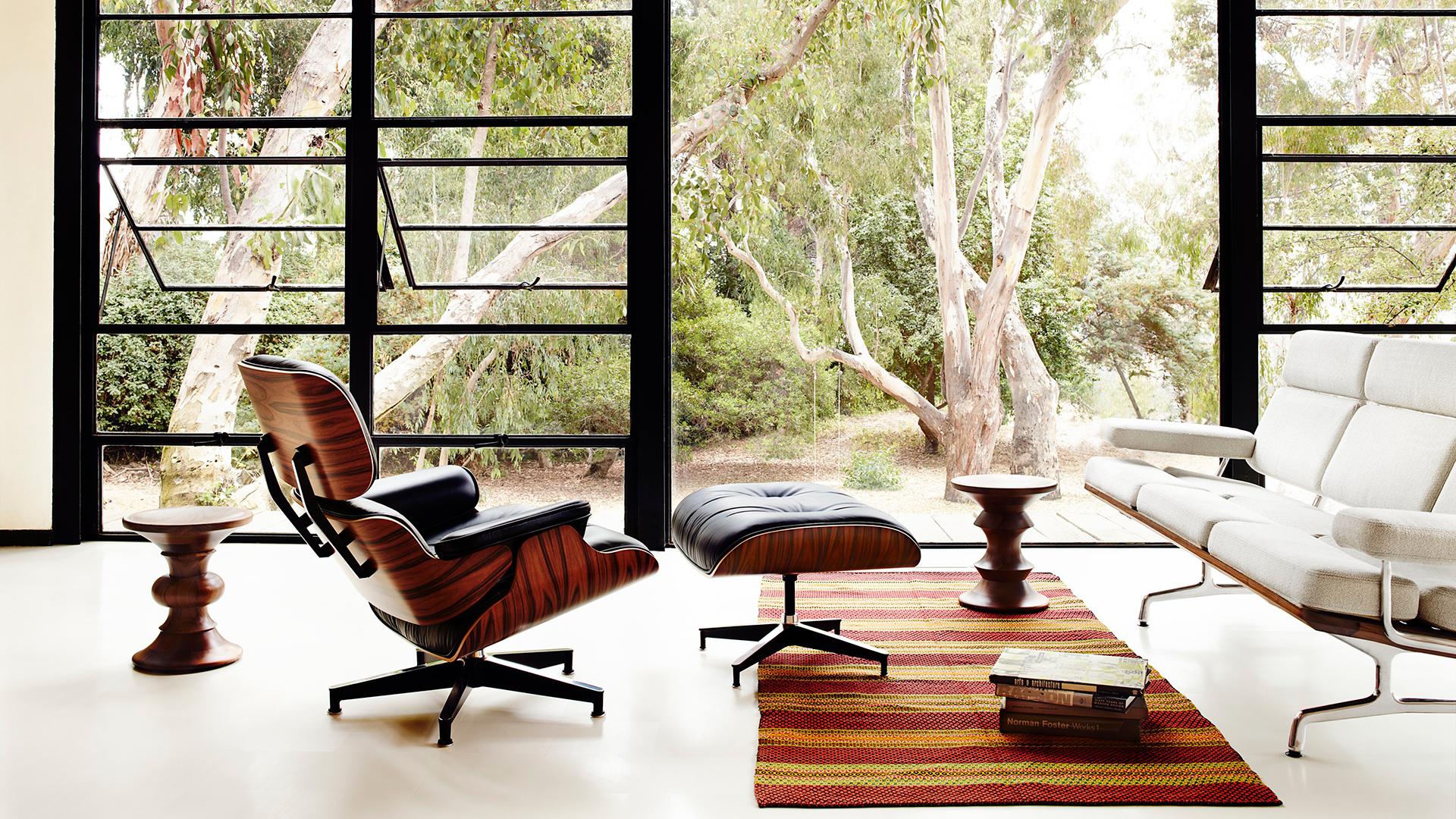Eames Lounge Chair Living Room herman miller eames® lounge chair & ottoman   living edge